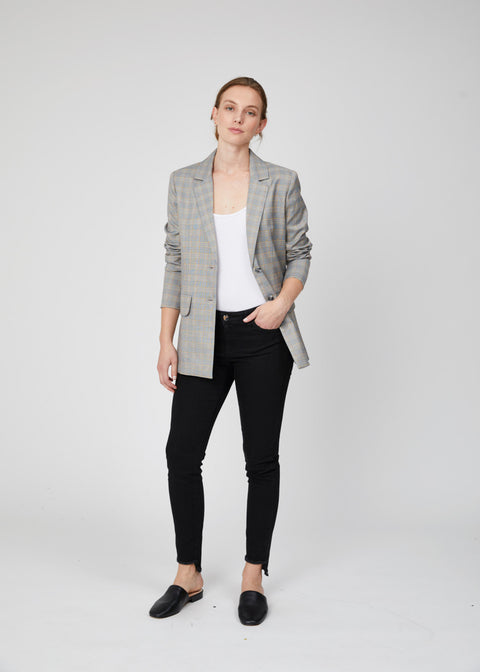 Natalie Blazer - Grey Check