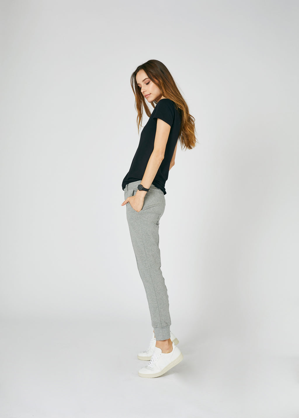 Stacey Lux French Terry Pants Grey