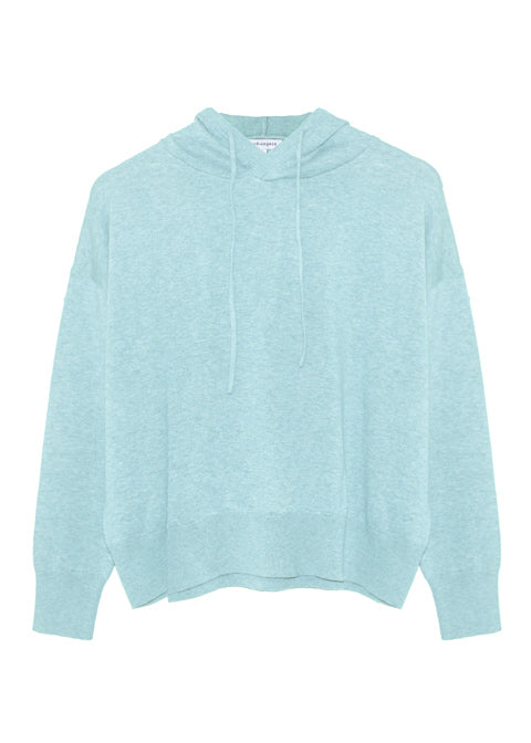 Maeve Organic Cotton Cashmere Hoodie - Blue