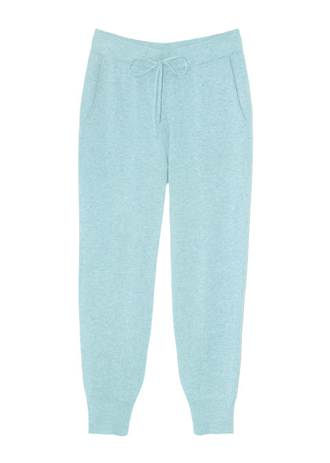 Una Organic Cotton Cashmere Lounge Pants - Blue