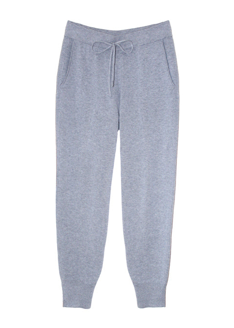 Una Organic Cotton Cashmere Lounge Pants - Grey