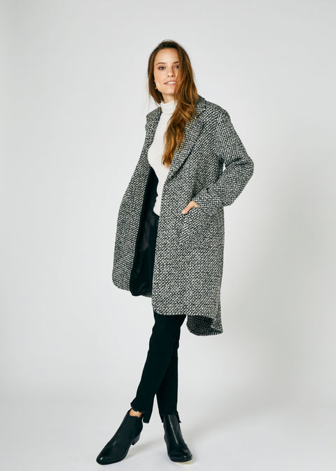 Heather Wool Wrap Coat