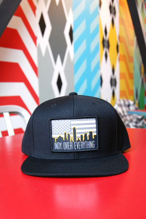SKYLINE HAT - BLACK - Indy Over Everything
