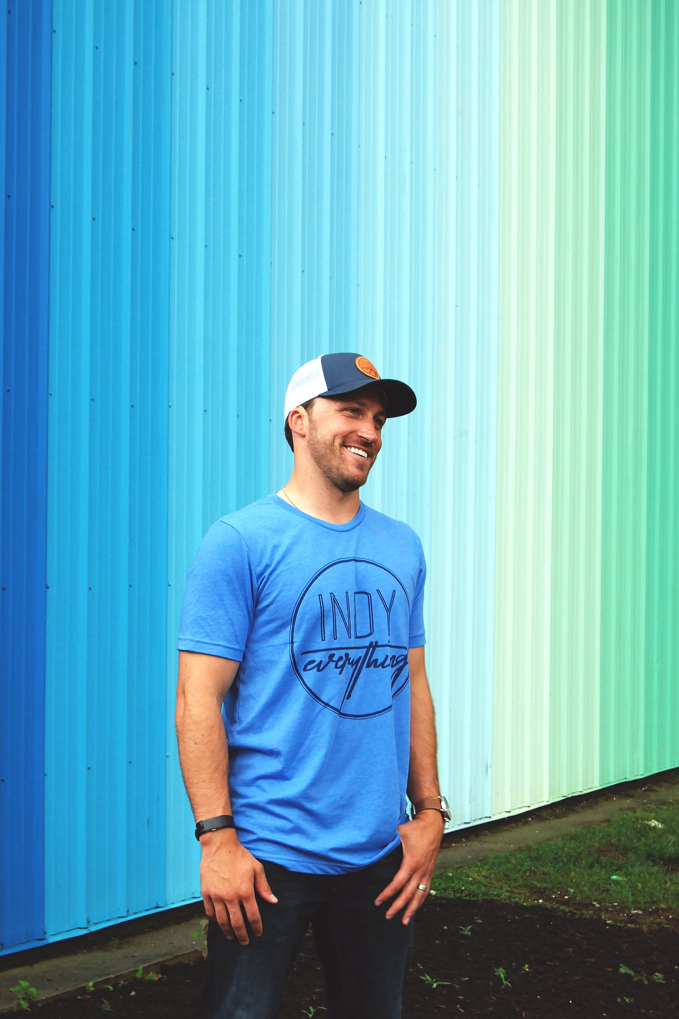 LOGO TEE - BLUE - Indy Over Everything
