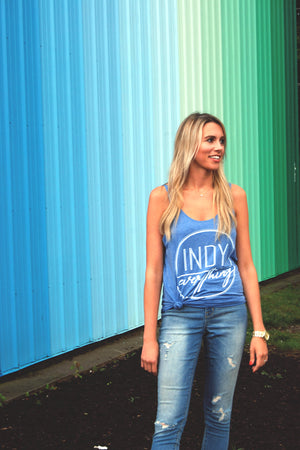 Relaxed Fit Logo Tank - Indy Over Everything