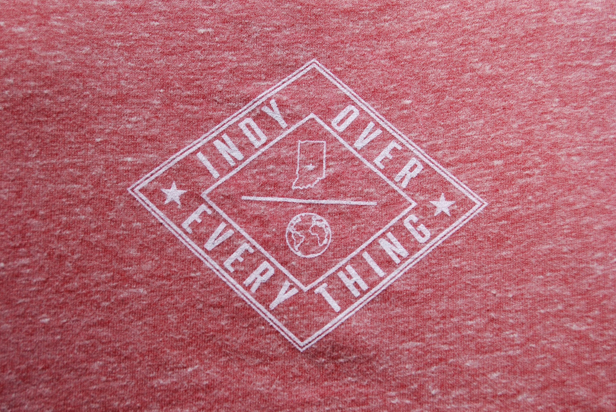 MENS LOGO TANK - HEATHER RED - Indy Over Everything