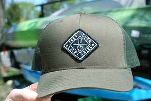 THE AVENUE TRUCKER HAT - OLIVE/OLIVE - Indy Over Everything
