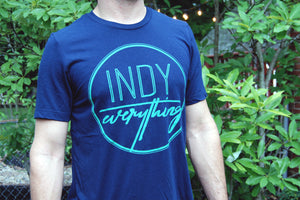 LOGO TEE - TRUE NAVY - Indy Over Everything