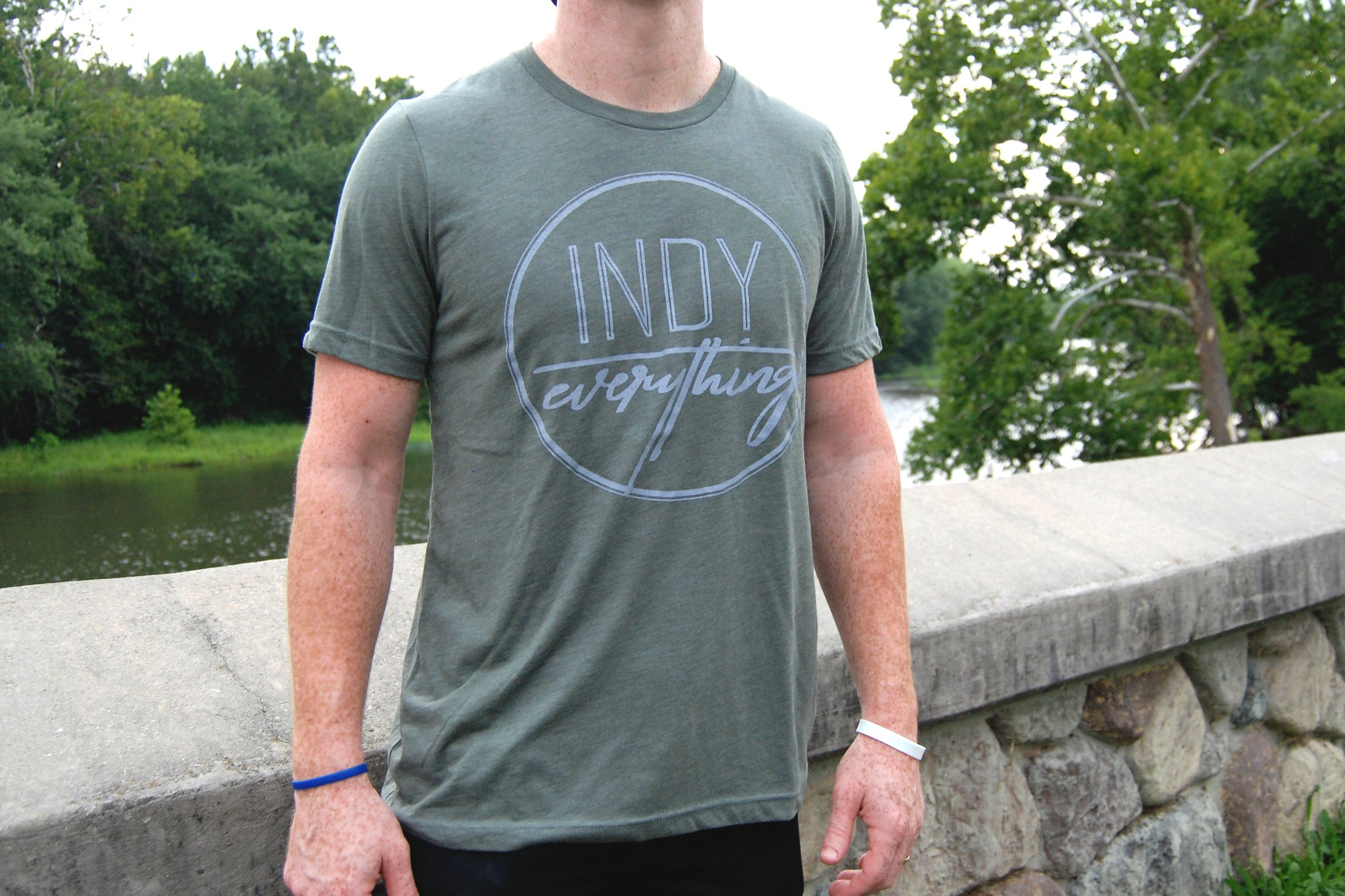 LOGO TEE - MILITARY GREEN - Indy Over Everything