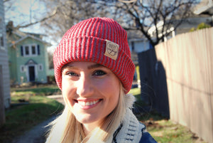 City Beanie - Heathered Red - Indy Over Everything