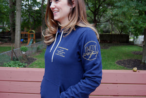 Brand Badge Hoodie - Navy - Indy Over Everything