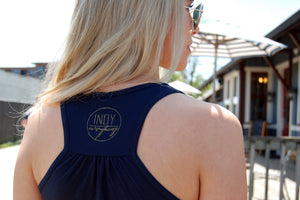 WOMEN'S FLOWY RACERBACK TANK - Indy Over Everything