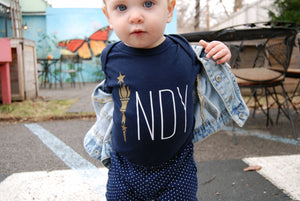Torch Longsleeve Onesie - Indy Over Everything