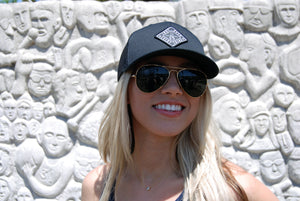 THE AVENUE TRUCKER HAT - BLACK/BLACK - Indy Over Everything