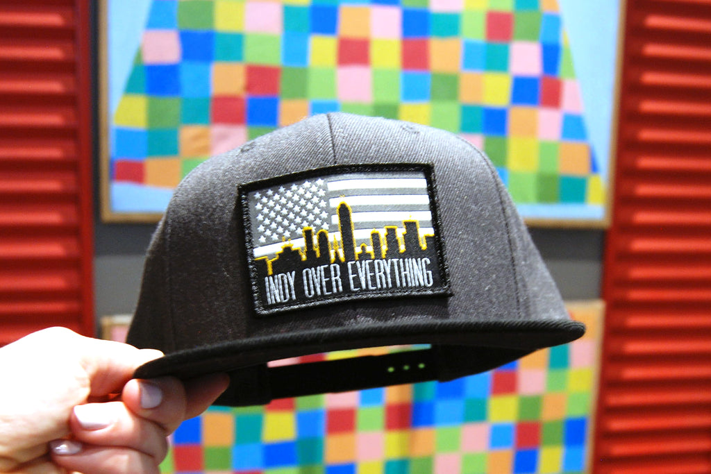 SKYLINE HAT - WOLF GREY / BLACK - Indy Over Everything