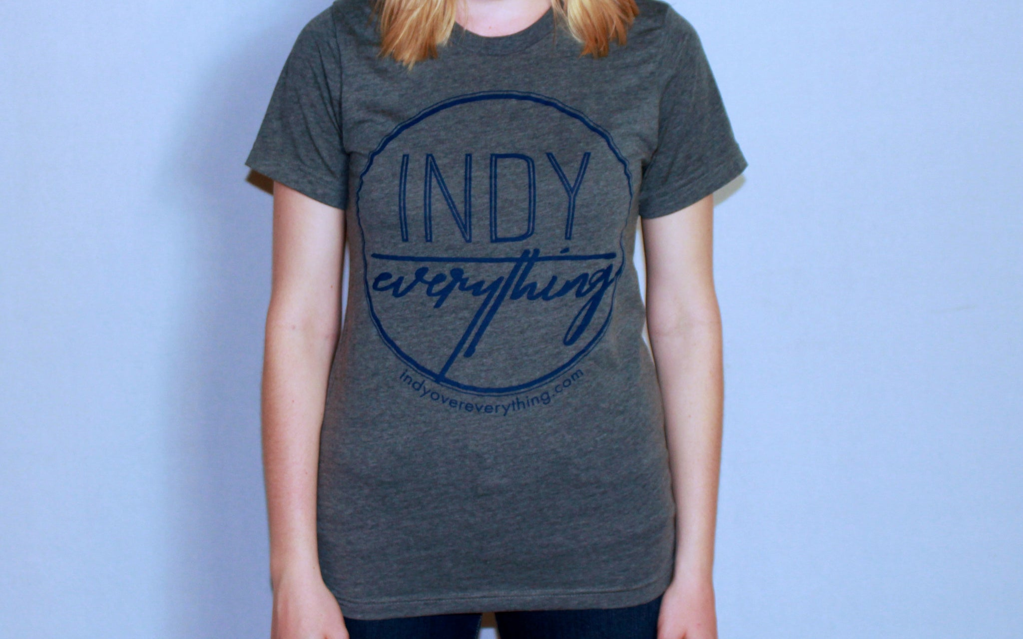 LOGO TEE - GREY - Indy Over Everything