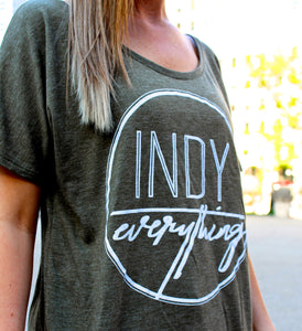 WOMENS LOGO RELAXED-FIT TEE - Indy Over Everything