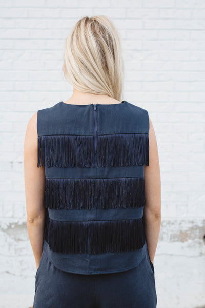 Fringe top (Navy)