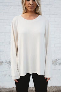 Modal Knit Sweater (Ivory)