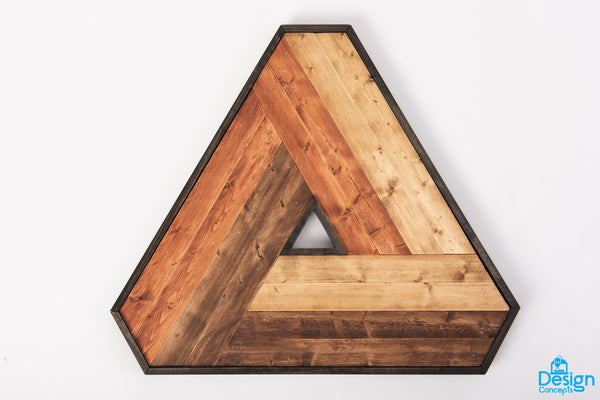 Fast Ship - Rustic Wooden Penrose Triangle 3D Wall Art - Design Concepts Chi