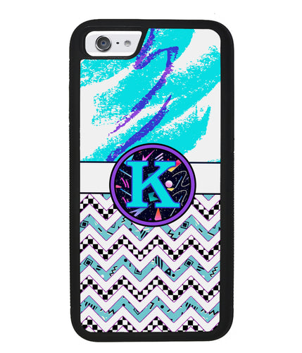 90s Patterns Chevron Personalized Monogram | Apple iPhone Case