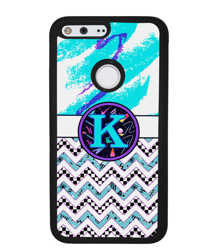 90s Patterns Chevron Initial | Google Phone Case