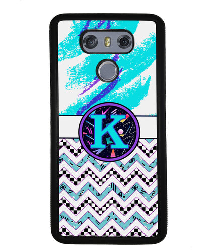 90s Patterns Chevron Initial | LG Phone Case