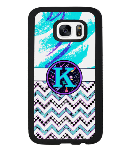90s Patterns Chevron Personalized Monogram | Samsung Case