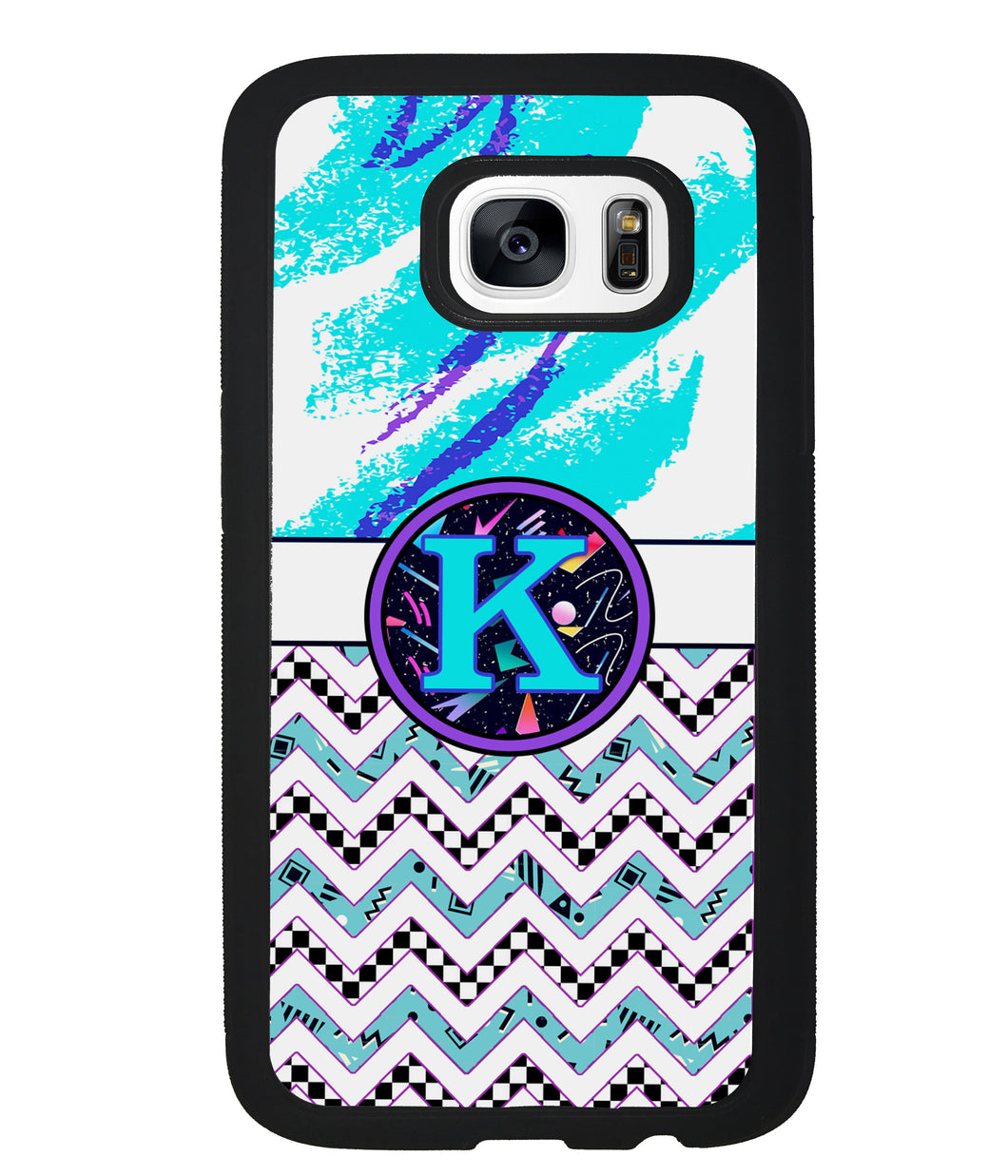 90s Patterns Chevron Initial | Samsung Phone Case