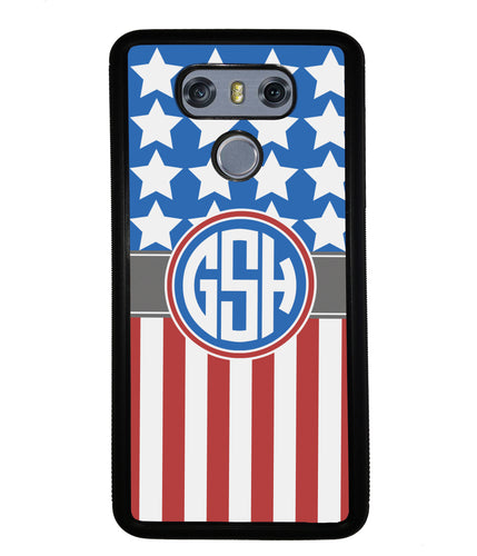 American Flag Circle Monogram | LG Phone Case