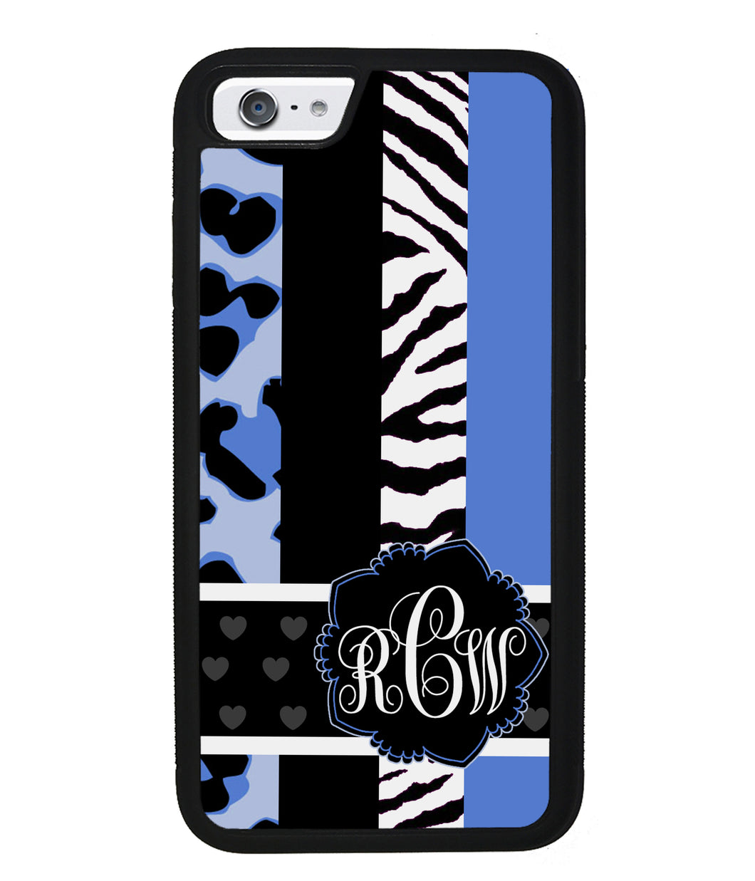 Animal Prints Blue Monogram | Apple iPhone Case