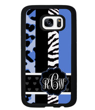 Animal Prints Blue Monogram | Samsung Phone Case