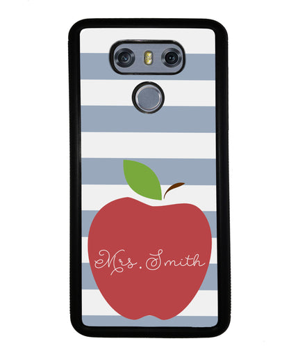 Teachers Appreciation Gift Apple Bars Personalized | LG Phone Case
