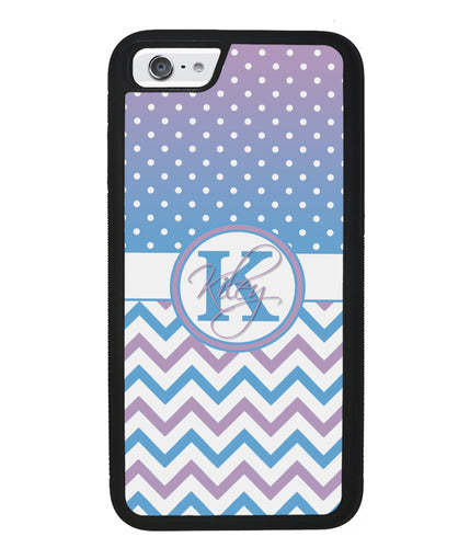 Aqua Lilac Personalized Chevron | Apple iPhone Case