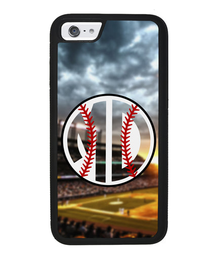 Baseball Monogram | Apple iPhone Case