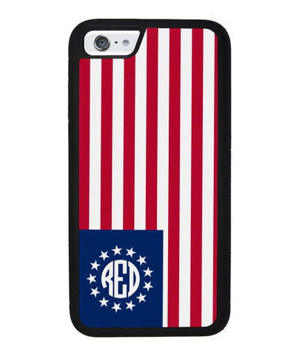 Betsy Ross Flag Personalized Monogram | Apple iPhone Case