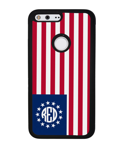 Betsy Ross Flag Personalized Monogram | Google Phone Case