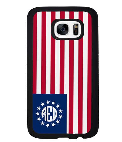 Betsy Ross Flag Personalized Monogram | Samsung Phone Case