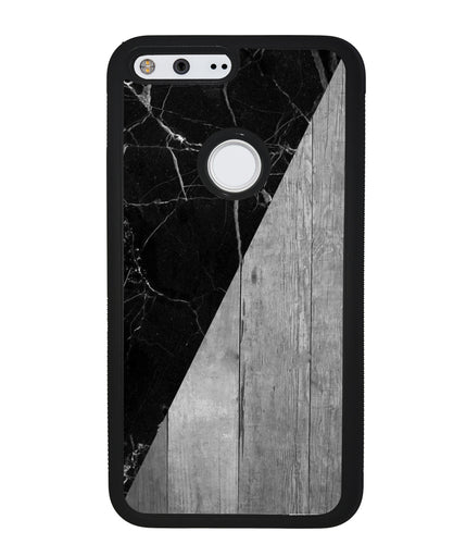 Black Marble and Grey Wood | Google Case