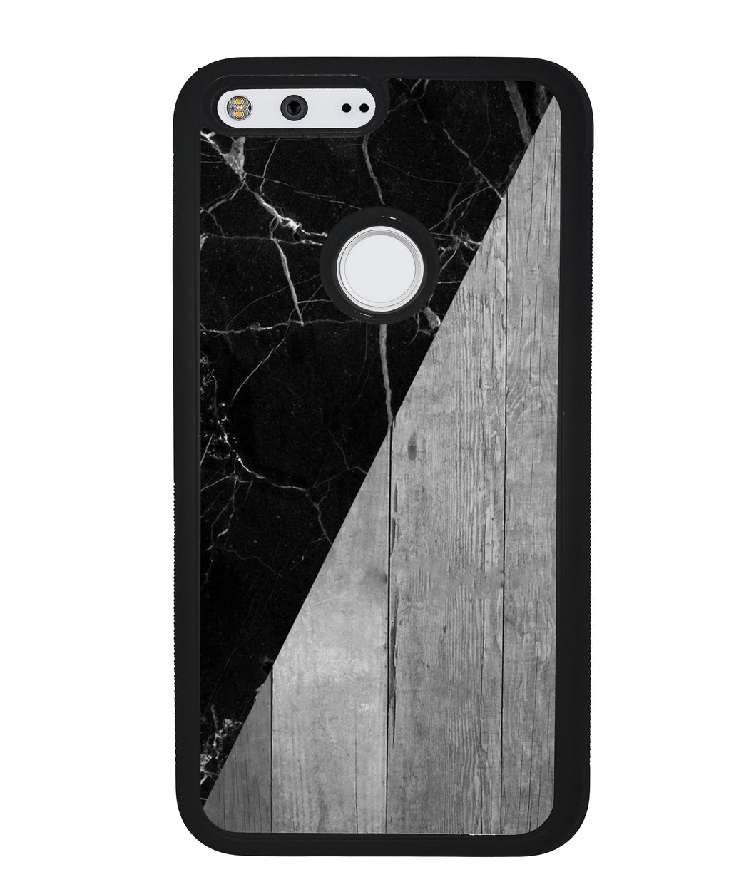 Black Marble and Grey Wood | Google Phone Case
