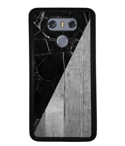 Black Marble and Grey Wood | LG Case