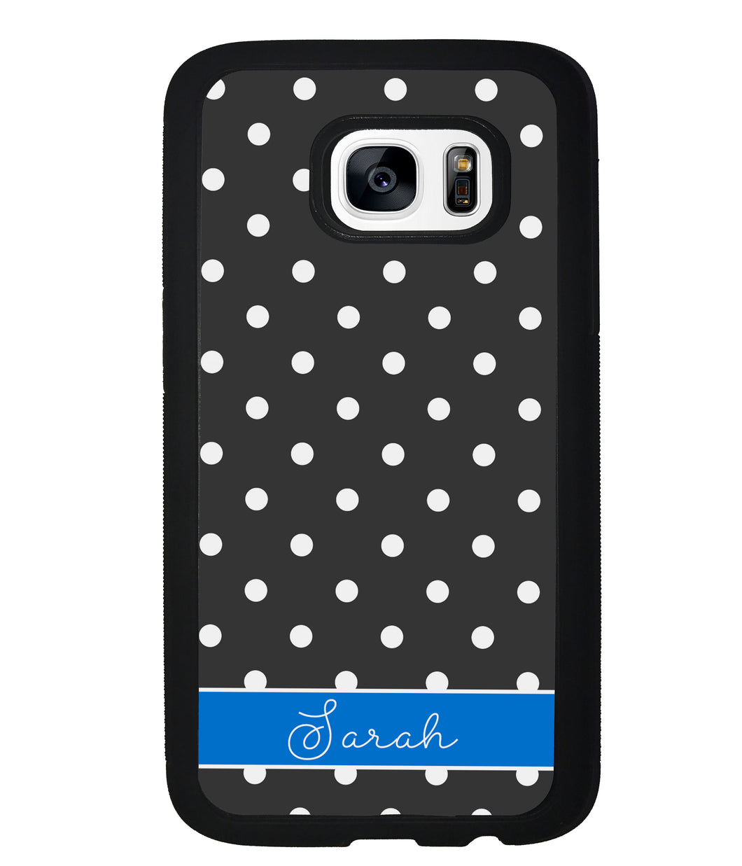 Black Polka Dot Blue Personalized | Samsung Phone Case