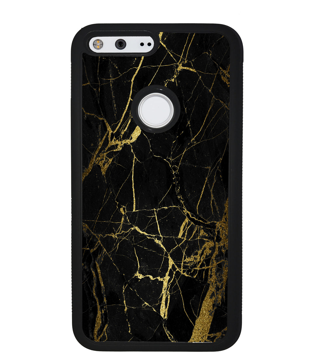 Gold and Black Marble | Google Phone Case