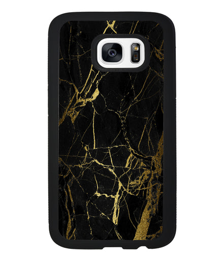 Gold and Black Marble | Samsung Case