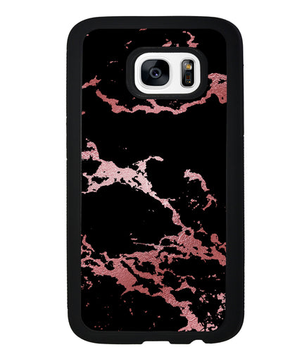 Black and Pink Marble | Samsung Phone Case