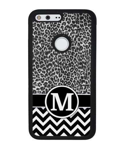 Black and White Leopard Skin Chevron | Google Case