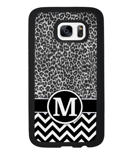 Black and White Leopard Skin Chevron | Samsung Case