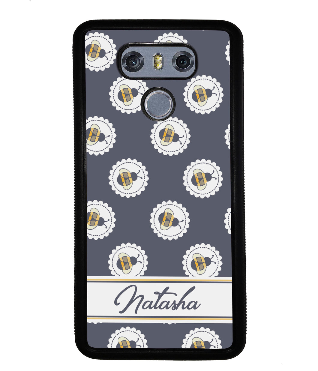 Blue Honey Bumble Bee Personalized | LG Phone Case