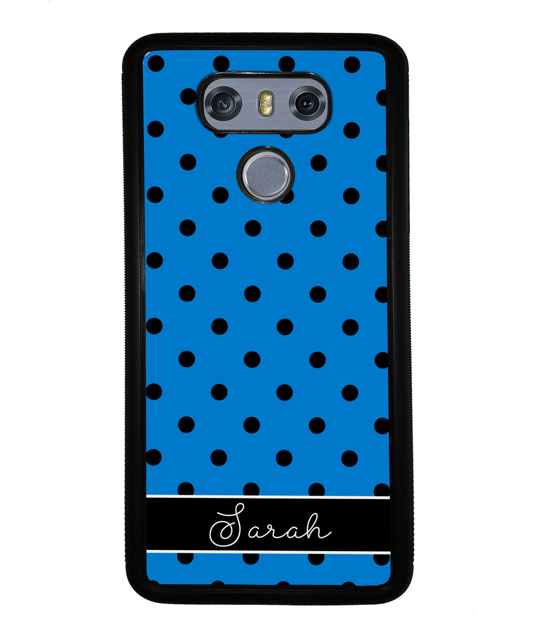 Blue Black Polka Dot Personalized | LG Phone Case
