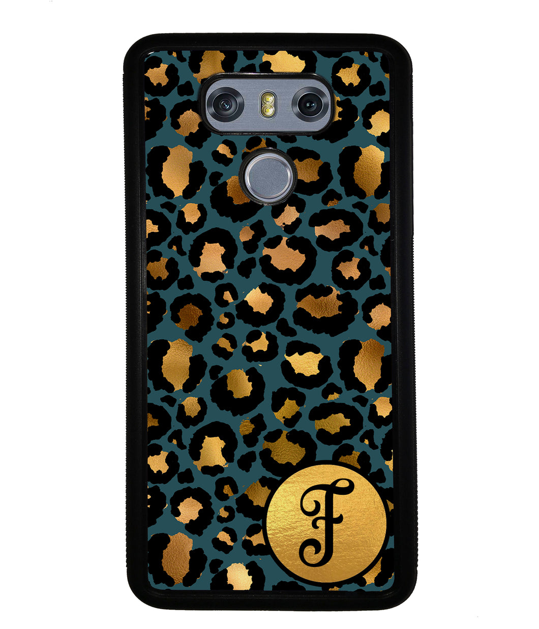 Gold Foil Leopard Skin Personalized | LG Phone Case